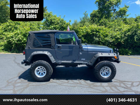 2001 Jeep Wrangler for sale at International Horsepower Auto Sales in Warwick RI