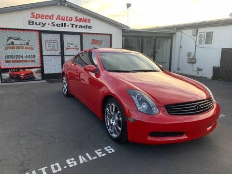 2007 Infiniti G35 for sale at Speed Auto Sales in El Cajon CA