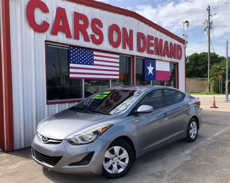 2016 Hyundai Elantra for sale at Cars On Demand 2 in Pasadena TX