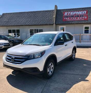 2013 Honda CR-V for sale at Stephen Motor Sales LLC in Caldwell OH