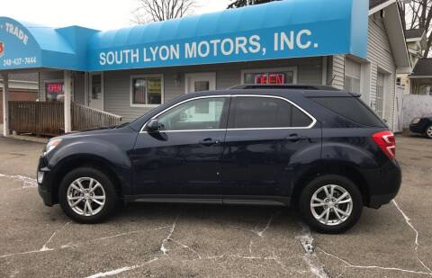 2017 Chevrolet Equinox for sale at South Lyon Motors INC in South Lyon MI