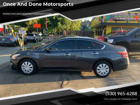 2013 Nissan Altima for sale at Once and Done Motorsports in Chico CA