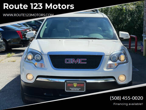 2012 GMC Acadia for sale at Route 123 Motors in Norton MA