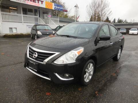 2016 Nissan Versa for sale at Leavitt Auto Sales and Used Car City in Everett WA
