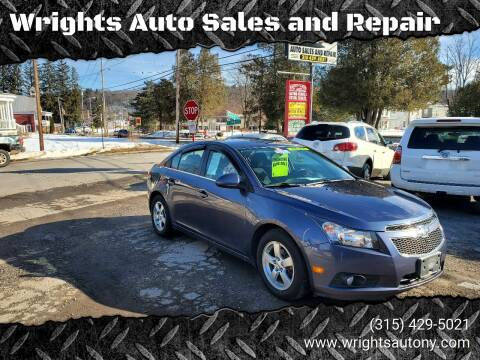 2014 Chevrolet Cruze for sale at Wrights Auto Sales and Repair in Dolgeville NY