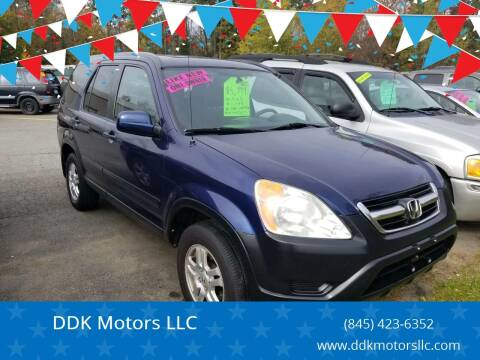 2003 Honda CR-V for sale at DDK Motors LLC in Rock Hill NY