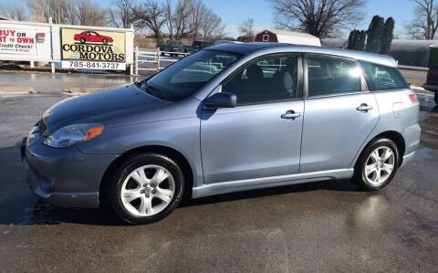 2005 Toyota Matrix for sale at Cordova Motors in Lawrence KS