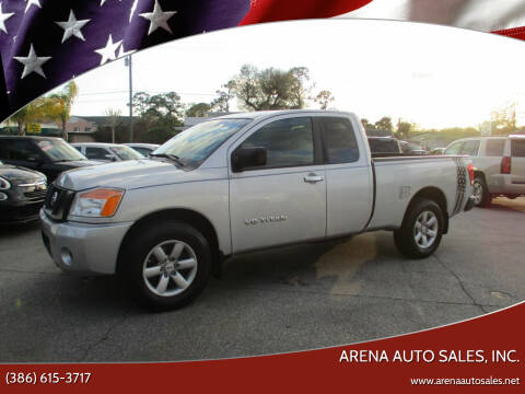 2012 Nissan Titan for sale at ARENA AUTO SALES,  INC. in Holly Hill FL