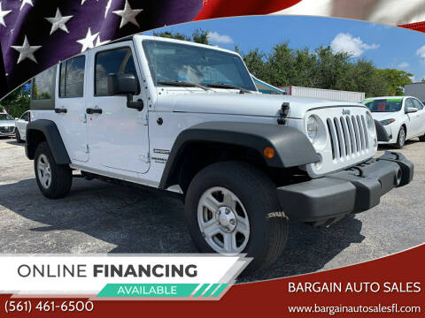 2016 Jeep Wrangler Unlimited for sale at Bargain Auto Sales in West Palm Beach FL