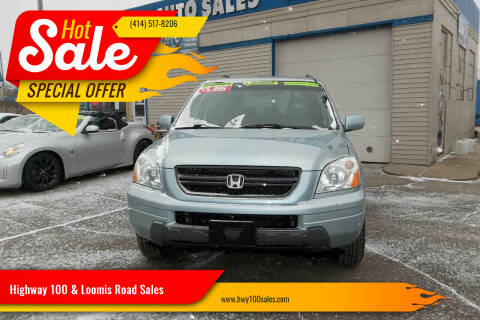 2003 Honda Pilot for sale at Highway 100 & Loomis Road Sales in Franklin WI