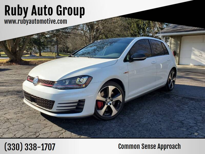 2017 Volkswagen Golf GTI for sale at Ruby Auto Group in Hudson OH