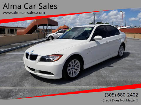 2007 BMW 3 Series for sale at Alma Car Sales in Miami FL