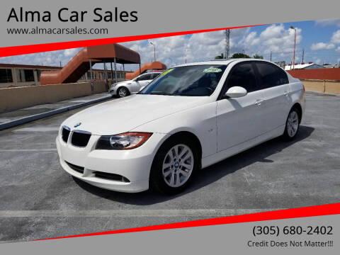 2007 BMW 3 Series for sale at Alma Car Sales in Miami FL