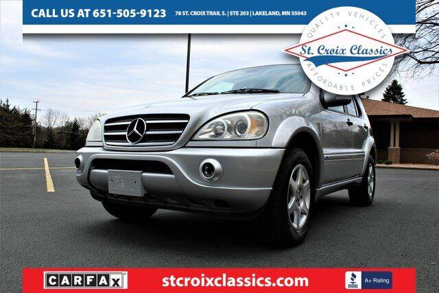 2002 Mercedes-Benz M-Class for sale at St. Croix Classics in Lakeland MN