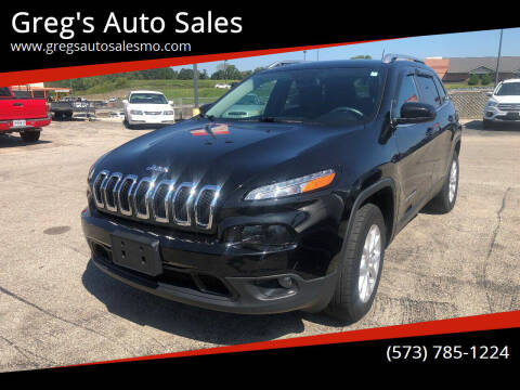 2015 Jeep Cherokee for sale at Greg's Auto Sales in Poplar Bluff MO