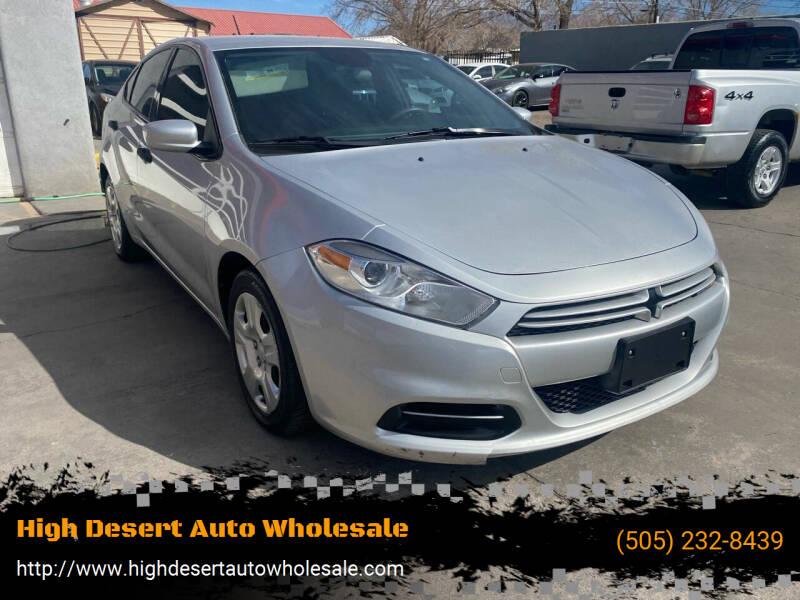 2013 Dodge Dart for sale at High Desert Auto Wholesale in Albuquerque NM