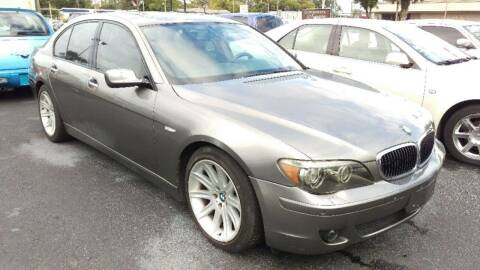 2006 BMW 7 Series for sale at Tony's Auto Sales in Jacksonville FL
