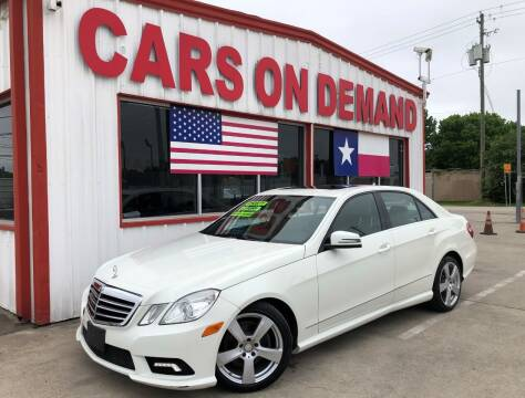 2011 Mercedes-Benz E-Class for sale at Cars On Demand 2 in Pasadena TX
