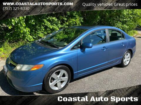 2008 Honda Civic for sale at Coastal Auto Sports in Chesapeake VA