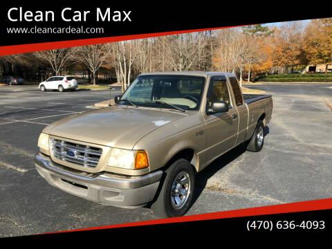 2002 Ford Ranger for sale at Clean Car Max in Alpharetta GA