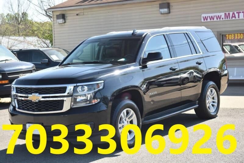 2018 Chevrolet Tahoe for sale at MANASSAS AUTO TRUCK in Manassas VA