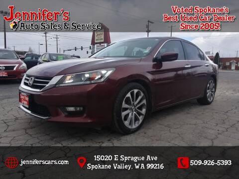 2014 Honda Accord for sale at Jennifer's Auto Sales in Spokane Valley WA