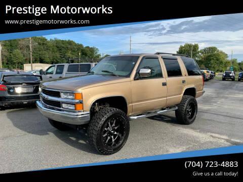 1999 Chevrolet Tahoe for sale at Prestige Motorworks in Concord NC