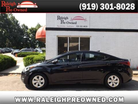 2016 Hyundai Elantra for sale at Raleigh Pre-Owned in Raleigh NC