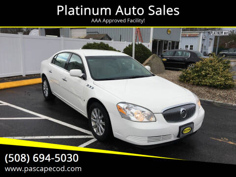 2009 Buick Lucerne for sale at Platinum Auto Sales in South Yarmouth MA