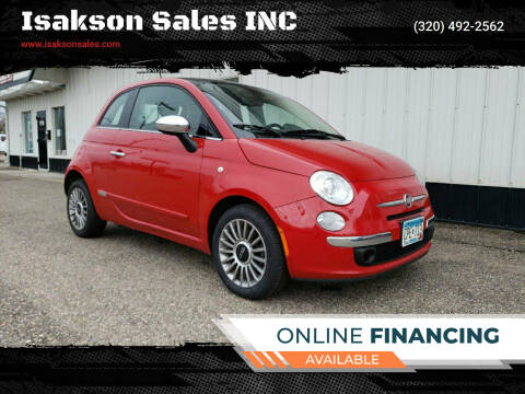 2012 FIAT 500 for sale at Isakson Sales INC in Waite Park MN