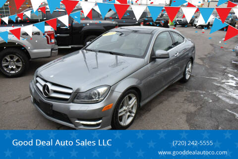 2013 Mercedes-Benz C-Class for sale at Good Deal Auto Sales LLC in Denver CO