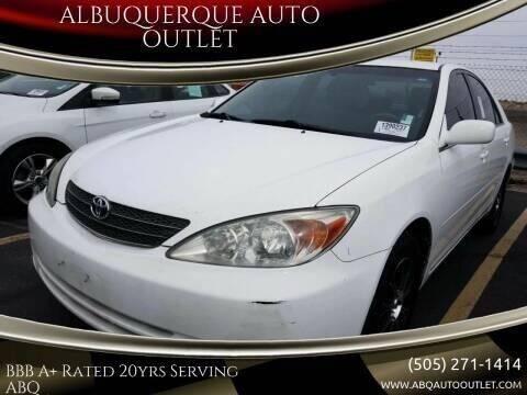 2003 Toyota Camry for sale at ALBUQUERQUE AUTO OUTLET in Albuquerque NM