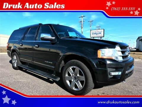 2017 Ford Expedition EL for sale at Druk Auto Sales in Ramsey MN