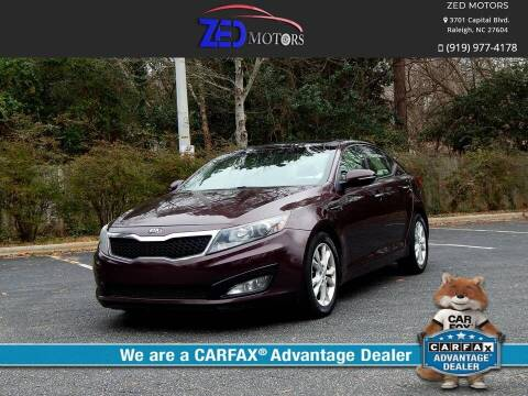 2013 Kia Optima for sale at Zed Motors in Raleigh NC