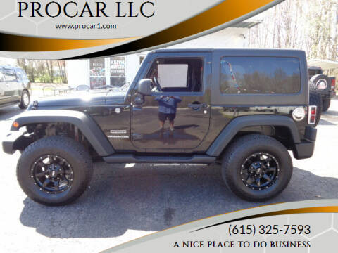 2011 Jeep Wrangler for sale at PROCAR LLC in Portland TN