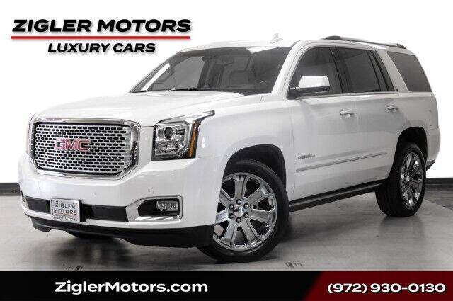 2016 GMC Yukon for sale at Zigler Motors in Addison TX