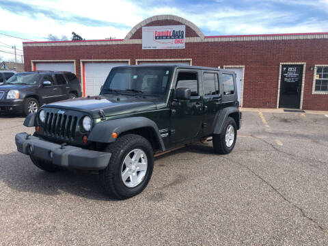 2010 Jeep Wrangler Unlimited for sale at Family Auto Finance OKC LLC in Oklahoma City OK