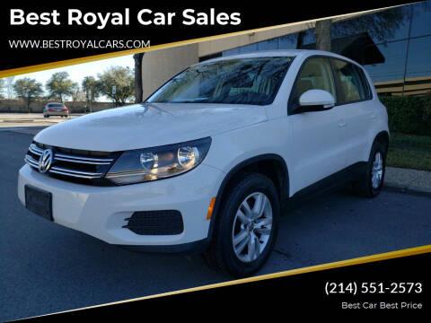 2013 Volkswagen Tiguan for sale at Best Royal Car Sales in Dallas TX