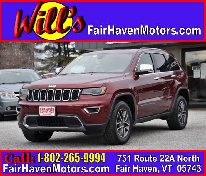 2019 Jeep Grand Cherokee for sale at Will's Fair Haven Motors in Fair Haven VT