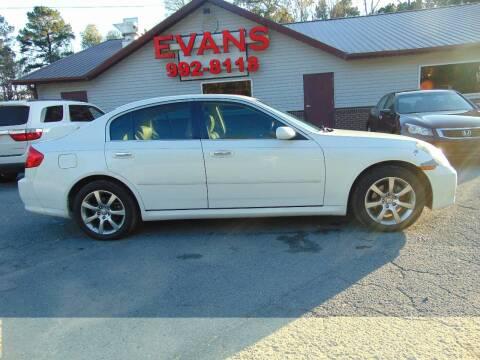 2005 Infiniti G35 for sale at Evans Motors Inc in Little Rock AR