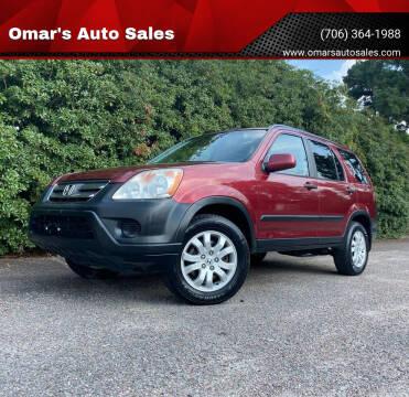 2005 Honda CR-V for sale at Omar's Auto Sales in Martinez GA