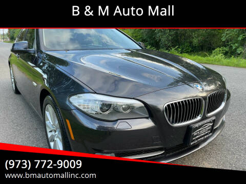 2013 BMW 5 Series for sale at B & M Auto Mall in Clifton NJ