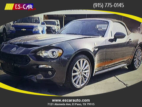 2017 FIAT 124 Spider for sale at Escar Auto in El Paso TX
