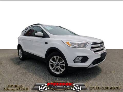 2018 Ford Escape for sale at PRIME MOTORS LLC in Arlington VA