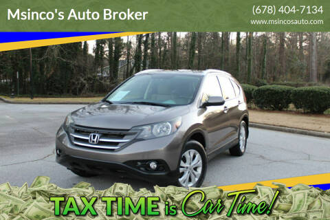 2013 Honda CR-V for sale at Msinco's Auto Broker in Snellville GA