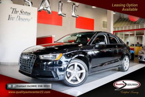 2016 Audi A3 for sale at Quality Auto Center in Springfield NJ
