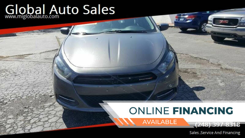2015 Dodge Dart for sale at Global Auto Sales in Hazel Park MI
