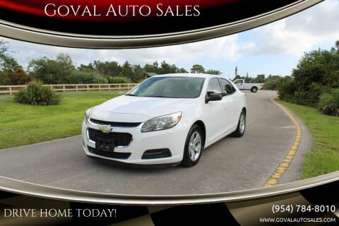2016 Chevrolet Malibu Limited for sale at Goval Auto Sales in Pompano Beach FL