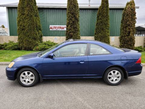 2003 Honda Civic for sale at AUTOTRACK INC in Mount Vernon WA