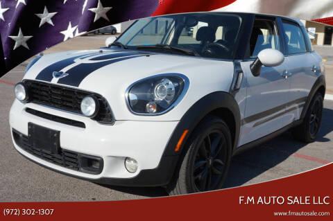 2012 MINI Cooper Countryman for sale at F.M Auto Sale LLC in Dallas TX
